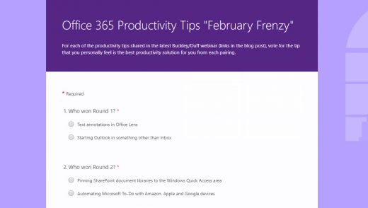 February 2019 productivity tips blog voting