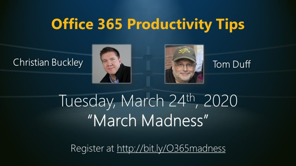Office 365 Productivity Tips March Madness