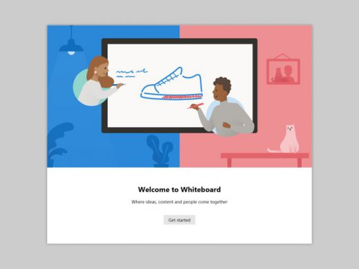 Opening the Microsoft Whiteboard app