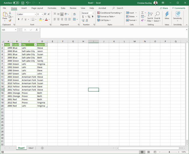 Visualize your Data with Ideas in Excel