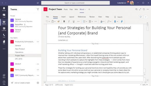 Adding a Document as a Tab in Microsoft Teams