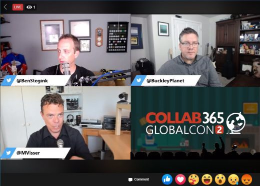 Keynote panel discussion with Christian, Maarten, and Ben for GlobalCon2