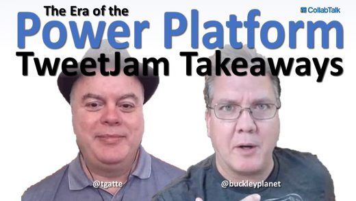 October 2020 CollabTalk TweetJam Community Feedback with MVP Treb Gatte from Marquee Insights