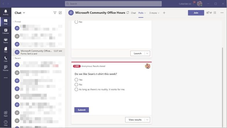 Gather Feedback with Polls in Microsoft Teams