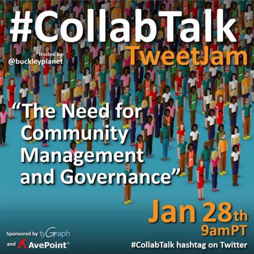#CollabTalk TweetJam on The Need for Community Management and Governance from January 28th, 2021