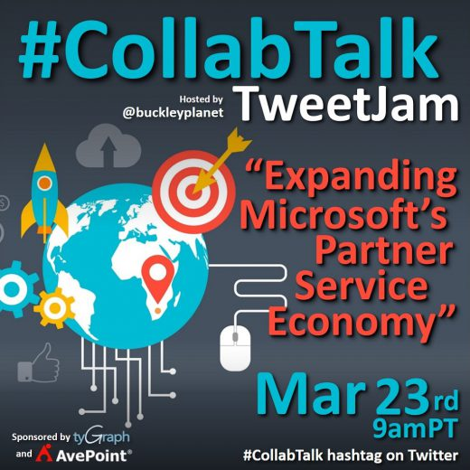 #CollabTalk TweetJam for March 23rd, 2021 on Expanding Microsoft's Partner Service Economy