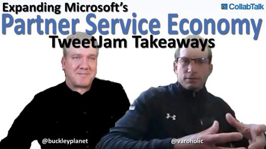 CollabTalk TweetJam summary with Jason Beal on Expanding Microsoft's Partner Service Economy recorded March 23rd, 2021